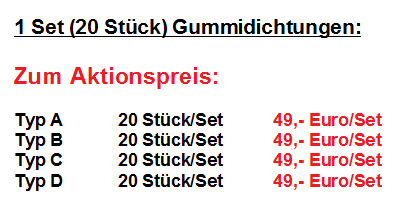 20 Stück/Set 49,- Euro