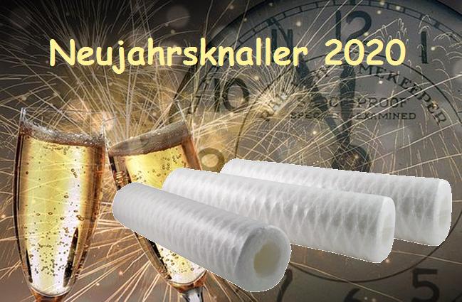 Neujahrsknaller 2020 - Filter weiß